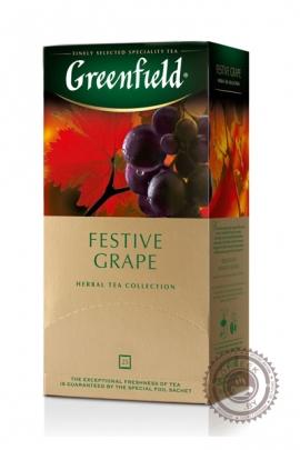 "Чай GREENFIELD ""Festive Grape"" (с виноградом) 25 пак фруктовый"