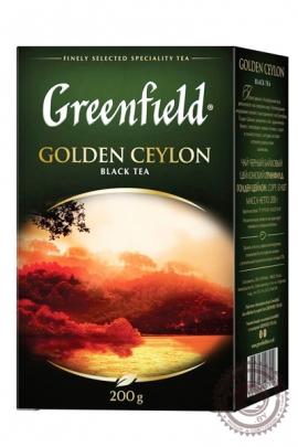 """Чай GREENFIELD """"Golden Ceylon"""" черный 200г крупнолистовой"""