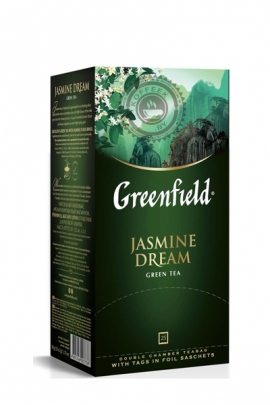 "Чай GREENFIELD ""Jasmin dream"" (с жасмином) зелёный 25 пакетов"