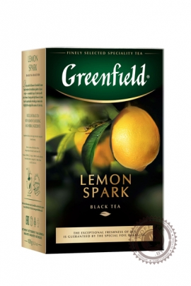"""Чай GREENFIELD """"Lemon Spark"""" (с лимоном) 100г чёрный"""