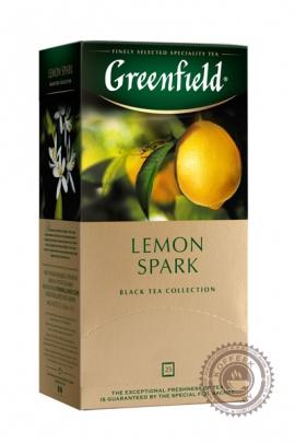 "Чай GREENFIELD ""Lemon Spark"" (с лимоном) 25 пак чёрный"