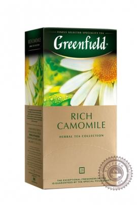"Чай GREENFIELD ""Rich Camomile"" (кориц+яблоко+ромашка) 25 пак фруктово-травяной"