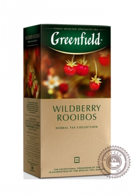 "Чай GREENFIELD ""Wildberry Rooibos"" травяной 25 пакетов"