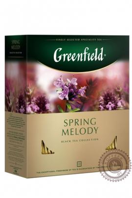 """Чай GREENFIELD """"Spring Melody"""" (с чабрецом) 100 пак чёрный"""