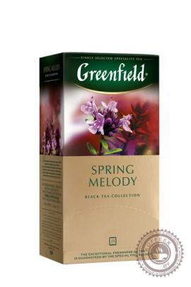 """Чай GREENFIELD """"Spring Melody"""" (с чабрецом) 25 пак чёрный"""