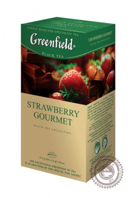 "Чай GREENFIELD ""Strawberry Gourmet"" черный 25 пакетов"