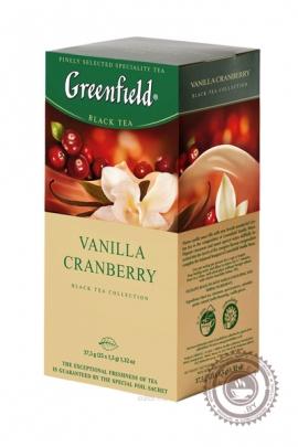 """Чай GREENFIELD """"Vanilla Cranberry"""" (клюква-ваниль) черный 25 пакетов"""