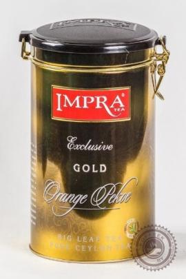 """Чай IMPRA """"Exclusive GOLD"""" черный 250г в ж/б"""