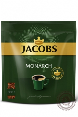 """Кофе JACOBS """"Monarch"""" 500 г растворимый сублимированный"""