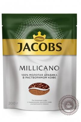 """Кофе JACOBS """"Monarch Millicano"""" 200г растворимый+молотый"""