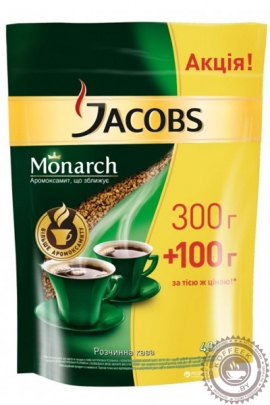 "Кофе JACOBS ""Monarch"" 400 г растворимый сублимированный"