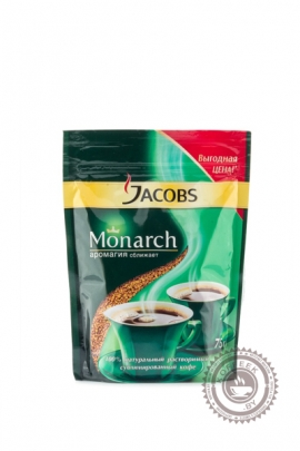 "Кофе JACOBS ""Monarch"" 75 г растворимый сублимированный"