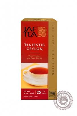 """Чай JAF TEA """"Majestic ceylon"""" черный 25 пакетов"""