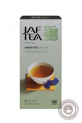 """Чай JAF TEA """"Earl Grey"""" зеленый 25 пакетов по 2 гр"""