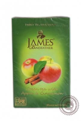 """Чай James & Grandfather """"Aplle Cinnamon"""" зелёный 100г"""