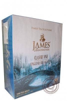 "Чай James & Grandfather ""English Breakfast"" черный 100 пакетов по 2 г"