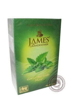 "Чай James & Grandfather ""Green tea with Mint"" зеленый с мятой 100 г"