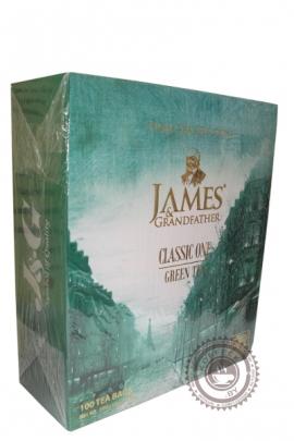 "Чай James & Grandfather ""Green Tea"" зеленый 100 пакетов по 2 г"
