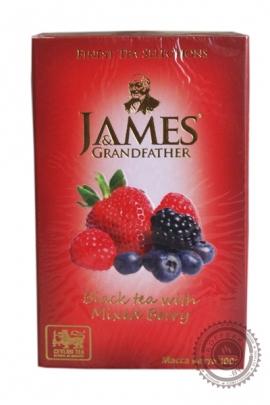 """Чай James & Grandfather """"Mixed Berry"""" черный с ягодами 100 г"""