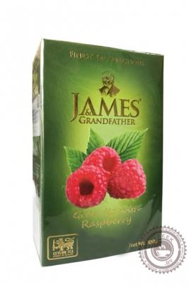 """Чай James & Grandfather """"Raspberry """" зеленый 100г"""