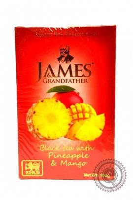 "Чай James & Grandfather ""Pineapple & Mango"" черный 100г"