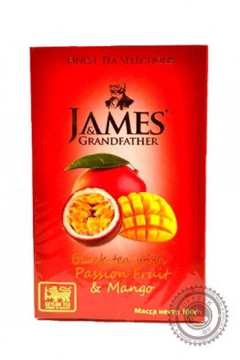 "Чай James & Grandfather ""Passion Fruit & Mango"" черный 100г"