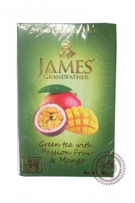 "Чай James & Grandfather ""Манго и Маракуйя"" зеленый 100г"