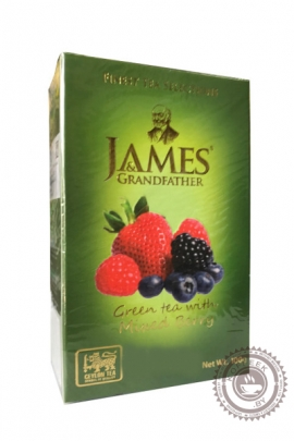 "Чай James & Grandfather ""Mixed Berry"" зеленый 100г"