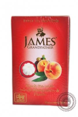 "Чай James & Grandfather ""Mangosteen & Peach"" черный 100г"