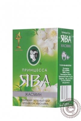 """Чай ПРИНЦЕССА ЯВА """"Жасмин"""" 100г зелёный листовой"""