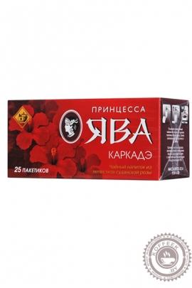 """Чай ПРИНЦЕССА ЯВА """"Каркадэ"""" 25 пакетов"""