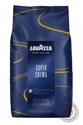 "Кофе LAVAZZA ""Super Crema"" 1000 г зерно"