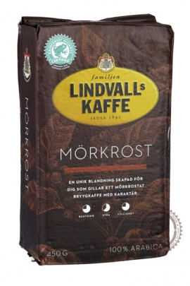 """Кофе Lindvalls """"Mörkrost"""" молотый 450 г"""