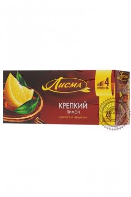 """Чай Лисма """"Крепкий Лимон"""" черный в пакетиках, 25 шт"""
