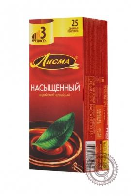 """Чай Лисма """"Насыщенный"""" черный в пакетиках, 25 шт"""