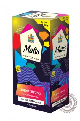 """Чай MATIS """"SUPER STRONG"""" черный 25 пакетов"""