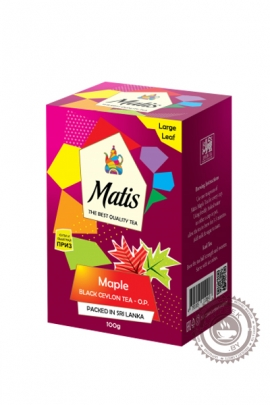 "Чай MATIS ""Maple"" черный 100 гр"