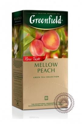 """Чай GREENFIELD """"Peach Mellow"""" зеленый 25 пакетов"""