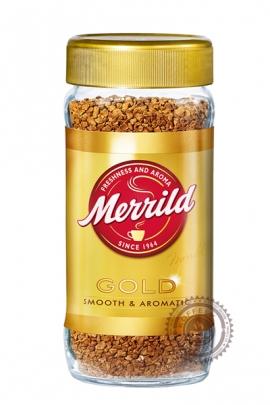 "Кофе MERRILD ""Gold Smooth&Aromatic"" растворимый 200г ст/б"