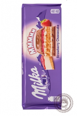 "Молочный шоколад ""Milka""  Клубничный Чизкейк 300г"