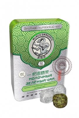 """Чай Чёрный Дракон """"Молочный зелёный чай"""" 60г в ж/б"""