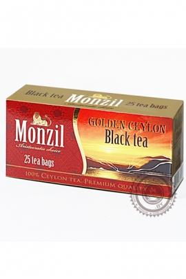 Чай MONZIL, черный 25 пакетов по 2 г
