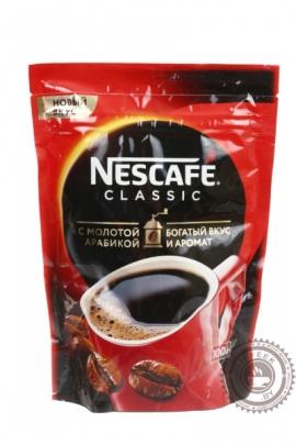 """Кофе Nescafe """"Classic"""" 100г растворимый с добавлением молотого"""
