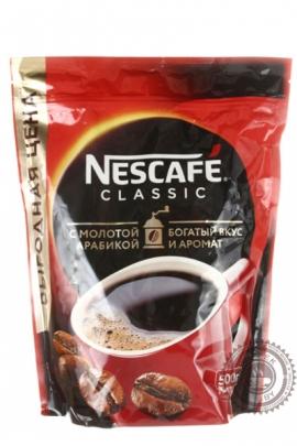 """Кофе Nescafe """"Classic"""" 500г растворимый с добавлением молотого кофе"""