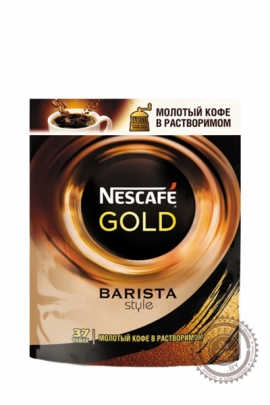 """Кофе Nescafe """"Gold Barista Style"""" 150 г растворимый +молотый"""
