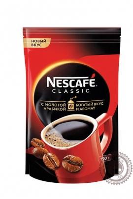 """Кофе Nescafe """"Classic"""" 150г растворимый с добавлением молотого"""