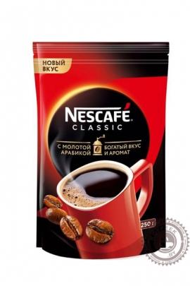 """Кофе Nescafe """"Classic"""" 250г растворимый с добавлением молотого"""