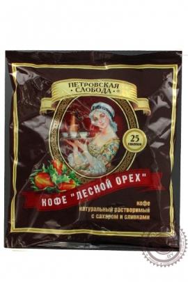 """Кофе Петровская Слобода """"Лесной Орех"""" растворимый 25 пакетов по 20г"""