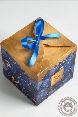 """Подарок новогодний """"Кубик синий"""" 400гр премиум"""