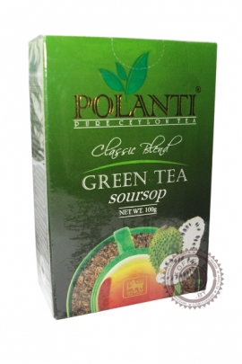 """Чай POLANTI """"Soursop"""" зелёный с соусепом 100 г"""